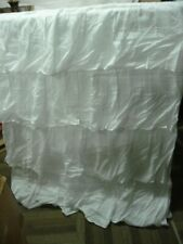 Pottery Barn Kids Ruffle Roman Shade 44x64 Cordless white replacement hardware