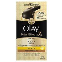 Olay Total Effects Colour Correction Cream Moisturiser SPF15 Medium To Dark 50ml