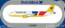 CEASED DUTCHBIRD CHARTED AIRLINE NETHERLANDS AIRBUS A320 STICKER