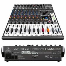 Behringer XENYX X1222USB 16-Input Live Sound Mixer Board w/ USB & Effects NEW