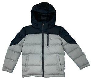 Ralph Lauren Polo Kids Full Zip Puffer Pony Logo Coat Grey 3227654-2001 NEW