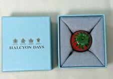 Halcyon Days Strawberry Shaped Pill Box Twists Open W/Orig. Box+Je T'Aime Box
