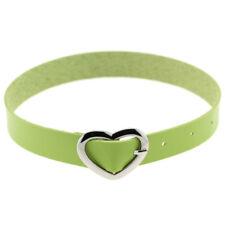 Choker Collar Necklace Crystal Love Heart Tattoo Leather Gothic Punk Bracelet UK