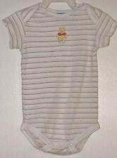 DISNEY Size 3-6 Months Boys Brown Striped Short Sleeves Bodysuit Romper