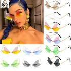 Women Vintage Dragonfly Steampunk Sunglasses Men Frameless Rimless Sunglasses