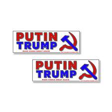 Putin Trump 2 pack of bumper stickers Anti-Trump Make Vodka Great Again 2 pack R