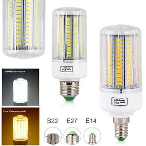 LED Corn Light Bulbs B22 E14 E27 Bright White Replace 25W-150W Lamps 220V 240V E