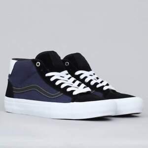 Street Machine X Vans Mid Skool Pro Skate Shoes Men's Size 11 Black/Dark Blue