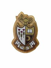 "Gamma Phi Beta Raised Wood Crest 3.5"" Paddle Accessory"