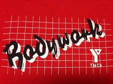 Vintage Bodywork YMCA Medium T Shirt Gym Recreation Center Workout Pool Sports