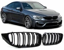 GLOSS BLACK DUAL SLAT GRILLS GRILLES GRILL FOR BMW 4 SERIES F32 F33 F36 F82 F83