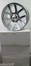 "22"" VIPER STYLE DODGE CHALLENGER CHARGER CHRYSLER 300 SET OF CHROME WHEELS RIMS"