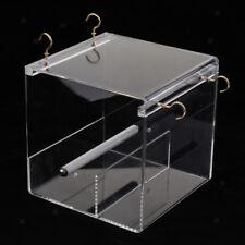 Easy Install Bird Perch Feeder Box for Finch, Parakeet, Sparrows,Parrotlet M
