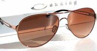Oakley Caveat Aviator Sunglasses OO4054-07 Gold Metal Frame Brown Gradient 60mm