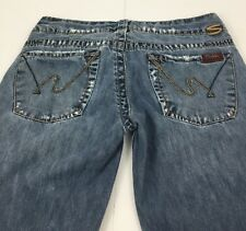 """Silver Jeans  21"""" Orion Distressed Destroyed Flare Women's W27/ L33, 28x31.5"""