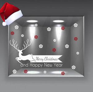 adesivi vetrine vetrofanie wall stickers addobbi natalizi natale christmas renna