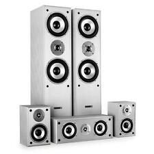 HOME CINEMA HIFI TOWER SPEAKER SYSTEM 5 CHANNEL 1150W SILVER BEST SOUND AUDIO