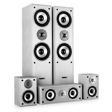 HOME CINEMA HIFI TOWER SPEAKER SYSTEM 5 CHANNEL 1150W SILVER BEST SOUND AUDIO