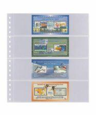 10 Lindner 824P Transparent Pockets 4x 242x65mm+ Black Zwl For Stamp Booklet