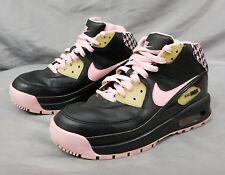 Nike Air Max 90 High Top  Athletic Sneaker Girls Sz 5y Black/Pink 317221-061