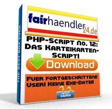 PHP-SCRIPT No. 12 Das Karteikarten Script Tool Webmaster Software PC HP E-Lizenz