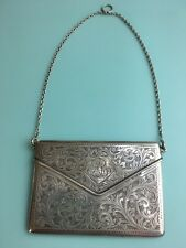 Porte cartes « Visite » petit sac argent / Antique silver « visite » cardholder