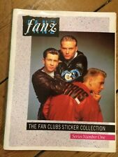 FANZ Sticker Collection 1988 featuring Bros Kylie Minogue U2 Belinda Carlisle