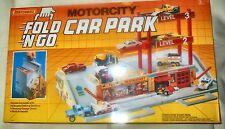 VINTAGE MATCHBOX FOLD NGO CAR PARK 1990 MOTORCITY DELUXE PLAY SET NEW