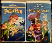 """Peter Pan"" & ""Return To Never Land"" Disney VHS Lot Of 2"