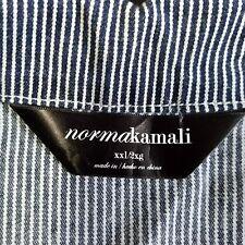Norma Kamali Womens Size XXL Striped Stretch Denim Zip Front Jean Jacket (E713))