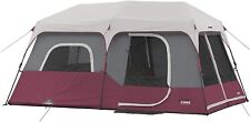 Nice 9 Person Family Party Camping Cabin Tent Purple 14' x 9' Easy Instant Setup