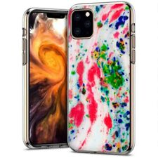 Thin Gel Phone Case Apple iPhone 11 Pro,PastelGradient 17 Design Texture Print