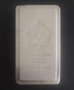 Vintage 999 fine silver 10 OZ Scottsdale silver bullion bar