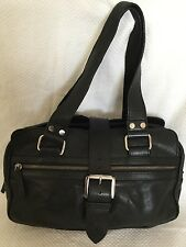COUNTRY ROAD Black Leather Tote/Shoulder Bag / Handbag