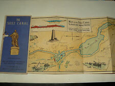 Carte Ancienne Canal de Suez An 30 Egypte A Rusenberg Port Said Palestine Map