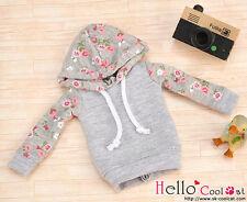 ☆╮Cool Cat╭☆43.【NP-B05】Blythe/Pullip Hoodie Top(Long Sleeves)# Flower Grey