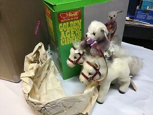 Steiff Golden Age Circus Bear Back Rider W Horses Set Mohair Plush Le5000 Boxed