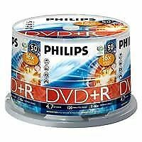 Philips DVD+R 120 Mins 4.7GB 16x Speed Recordable Blank Discs - 50 Pack Spindle