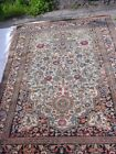 ANTIQUE ORIENTAL RUG WITH BIRDS AND FLOWERS