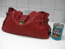 JONES bootmaker red leather HOBO shoulder style Handbag bag tote
