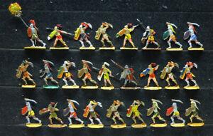 26 Zinnfiguren Karthago Rom Infanterie Antike 30mm bemalt Kieler Hannibal