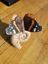 "Goebel Red Admiral Vulcain Butterfly / Moth TMK6 #35003 3 1/2"" Tall"
