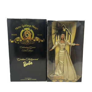 Vintage Golden Hollywood Barbie Doll MGM 75 Years African American FAO Schwartz