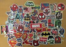 50 Marvel Superhero Spiderman Batman Superman Hulk Kids Stickers Stickerbomb