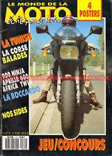 MONDE de la MOTO 171 KAWASAKI GPZ 900 R Ninja BOCCARDO 1200 APRILIA 600 Tuareg