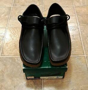 ***MEGA RARE*** REAL OG Clarks Wallabees Handmade in Ireland  BLACK+GUM 11.5