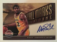 Magic Johnson Autograph 2012-13 Panini Past & Present Auto SP Hall Marks