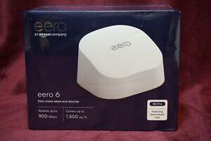 EERO Wi-Fi 6 Dual-Band Mesh Wi-Fi Router, AX1800 , Model : N010111   NEW !