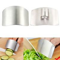 Kitchen Finger Hand Protector Guard Stainless Steel Chop Slice Shield Cook Tools