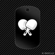 Table Tennis Keychain GI dog tag engraved many colors  #3 ping pong